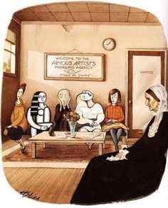 карикатуры на знаменитые картины
