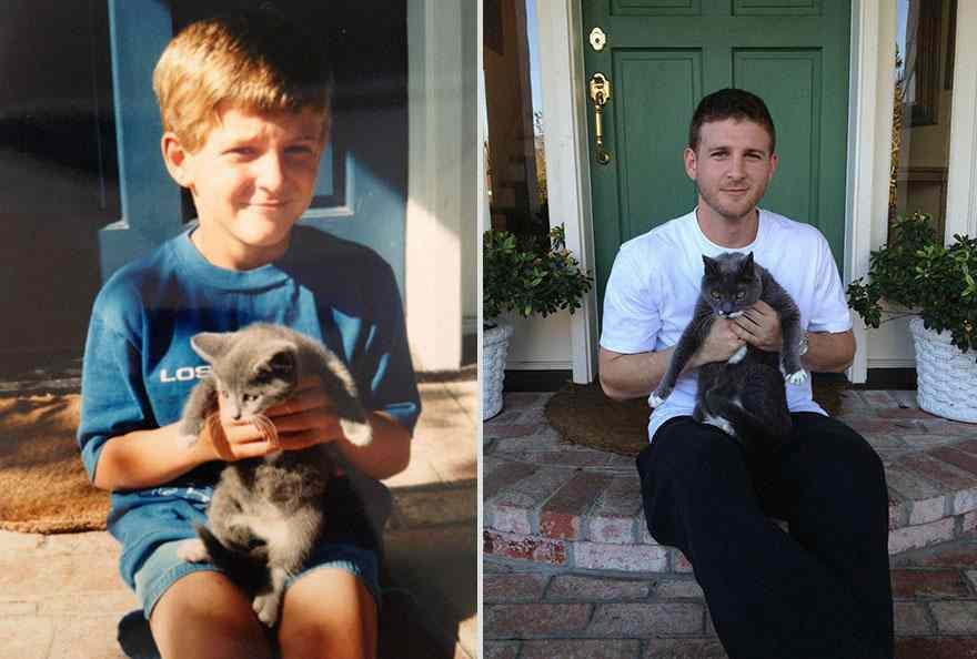 котик через 17 лет