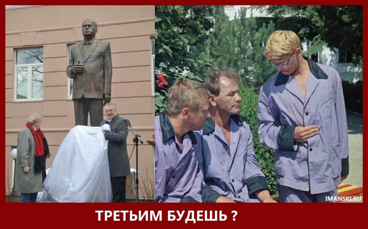 """Памятник Жириновскому В.В. """"Третьим будешь?"""""""