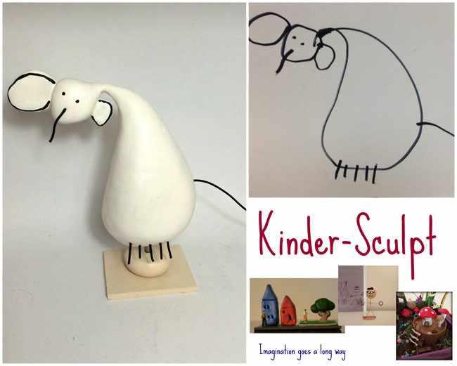 детские рисунки и статуэтки