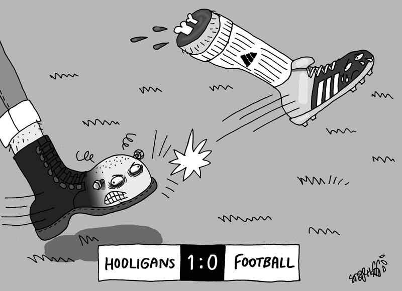 ультрас на евро-2916 карикатура