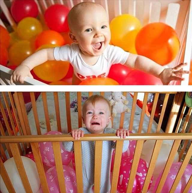 фото малыша с шариками