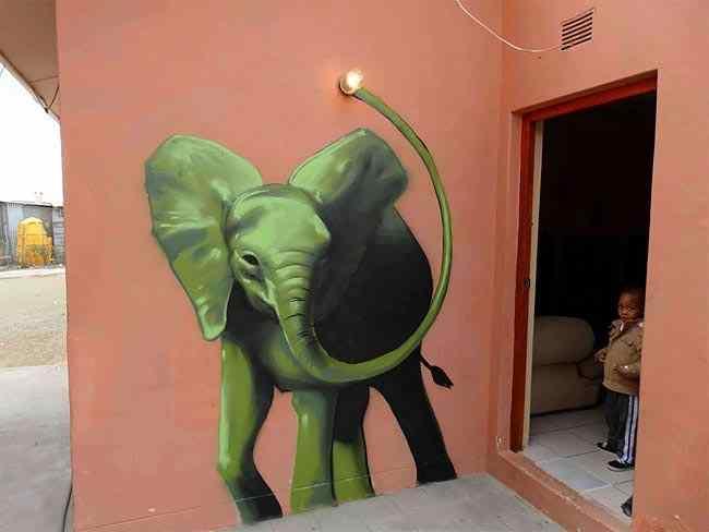 нарисованные слоны