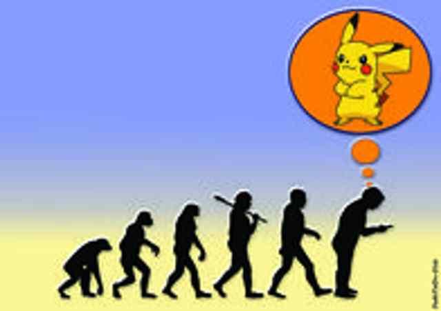 карикатура эволюция покемонов