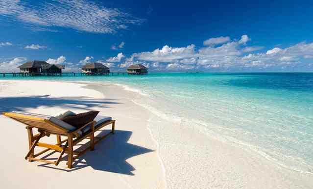 пляж Мальдивы