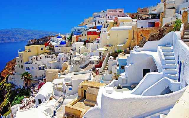Остров Санторини в Греции 1