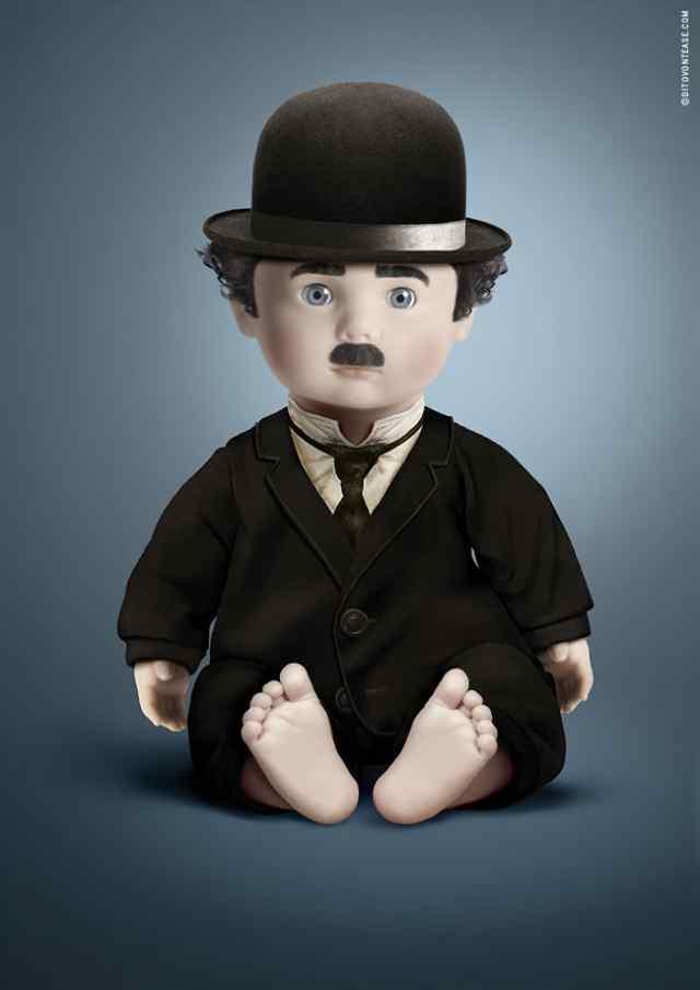 Чарли Чаплин куклы и кумиры