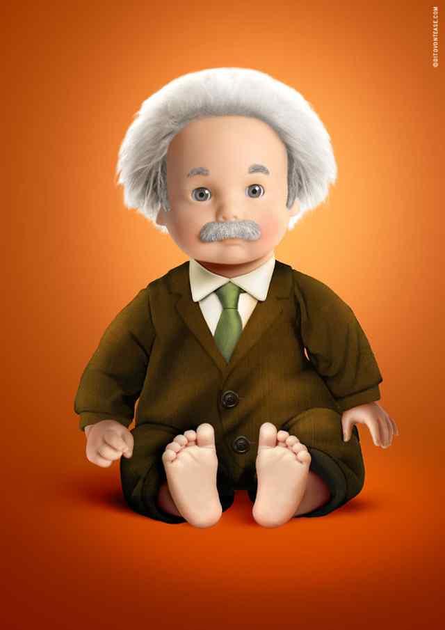 Энштейн кукла