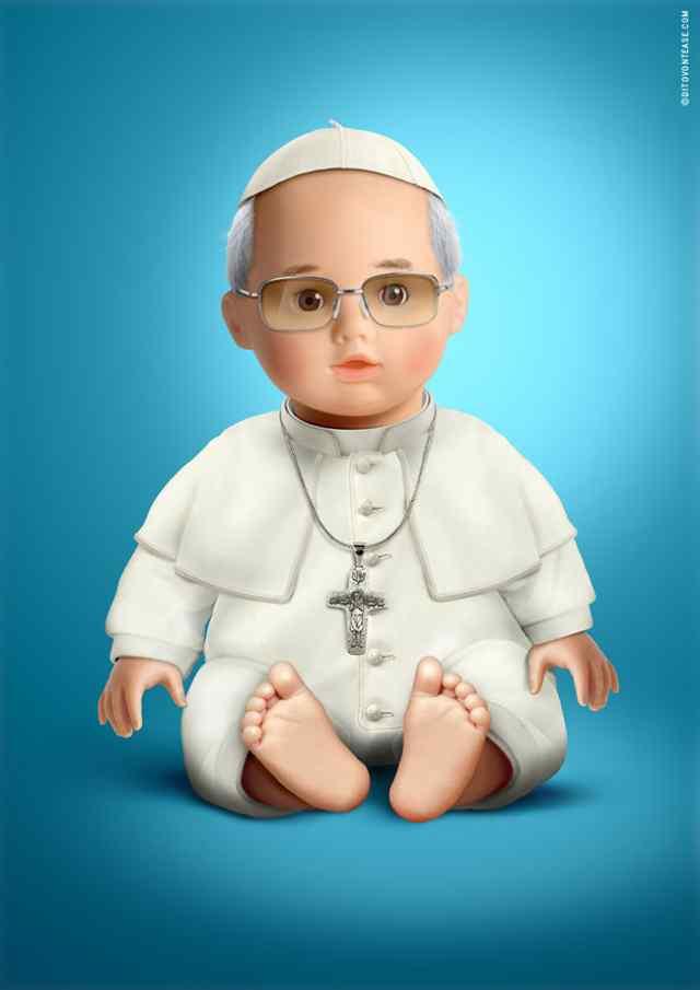 Папа Римский кукла