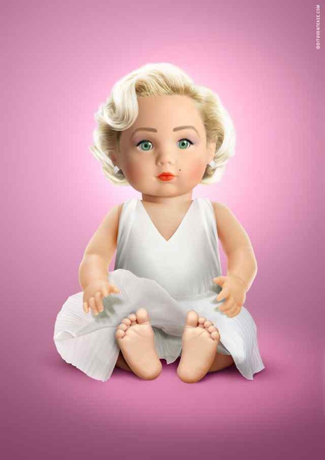 Мэрелин Монро кукла