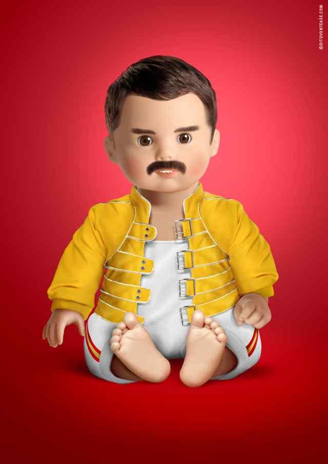 Фрэдди Меркури кукла