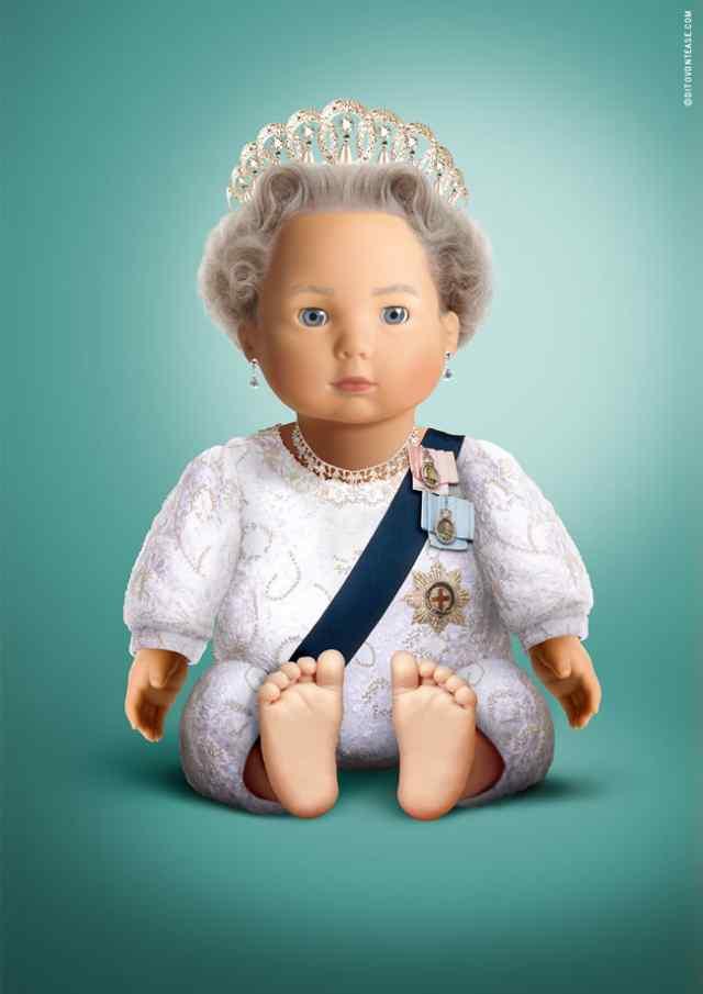 королева Елизавета кукла
