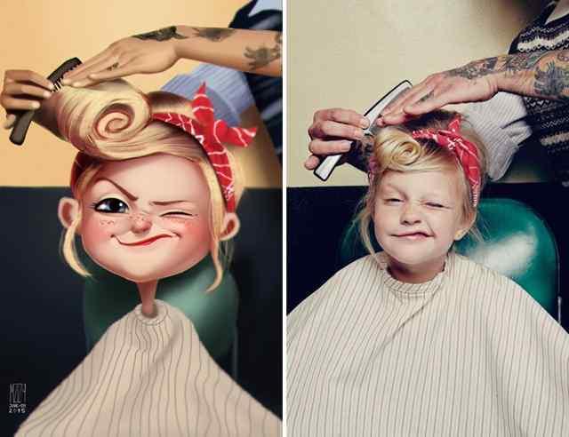 девочка в салоне красоты