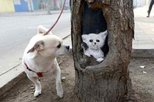 картины на деревьях