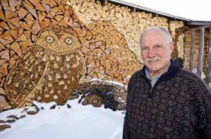 мозаика из дров