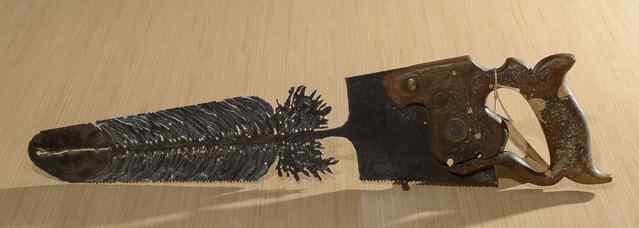 Резьба по пилам и лопатам.Cindy Chinn