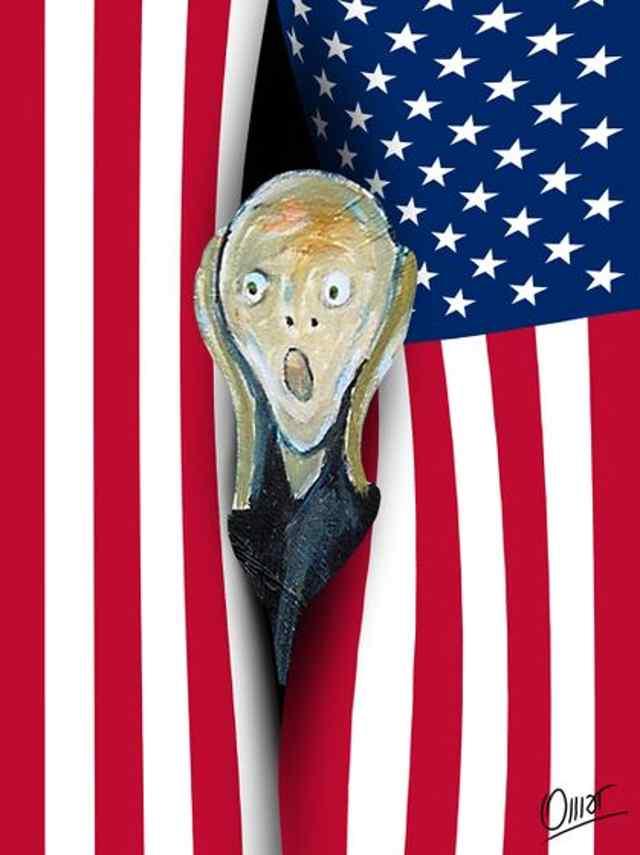 """Карикатура """"победа трампа"""""""
