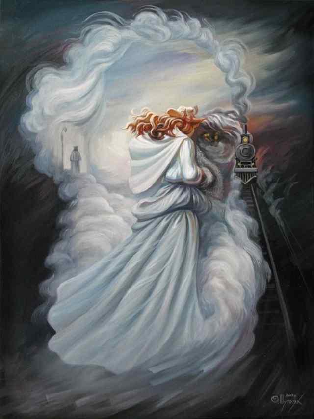 Картины в стиле оптических метаморфоз Олега Шупляка