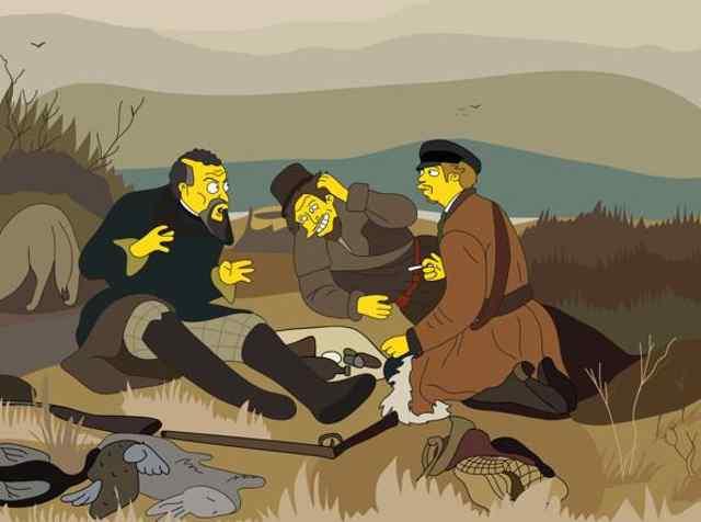 Русская классическая живопись в Симсонах