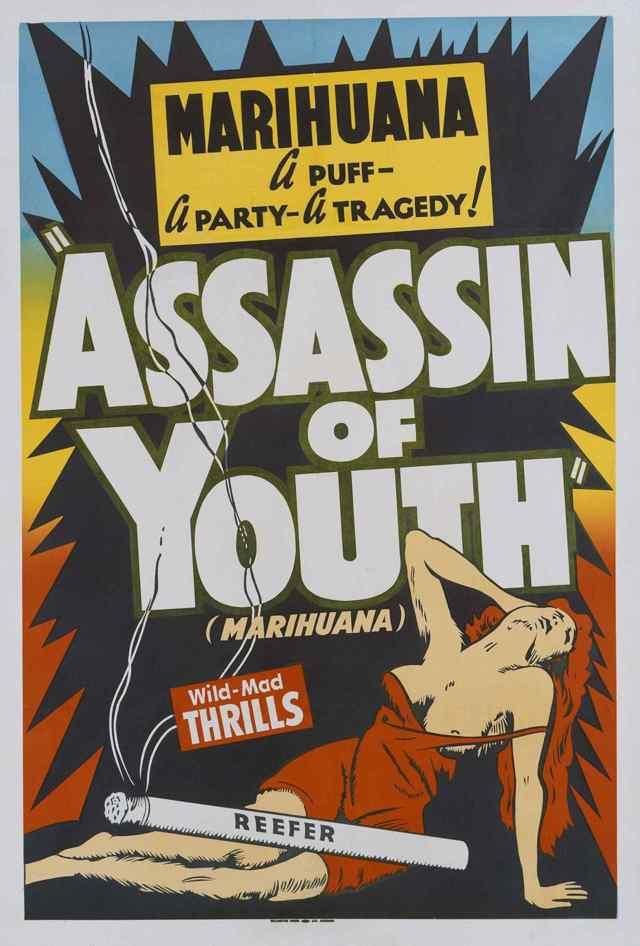 Анти-марихуана. Плакаты 30-х-50-х годов.