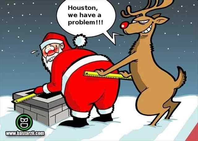 Подборка новогодних карикатур про Санта Клауса.