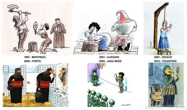 Повторы в карикатуре..