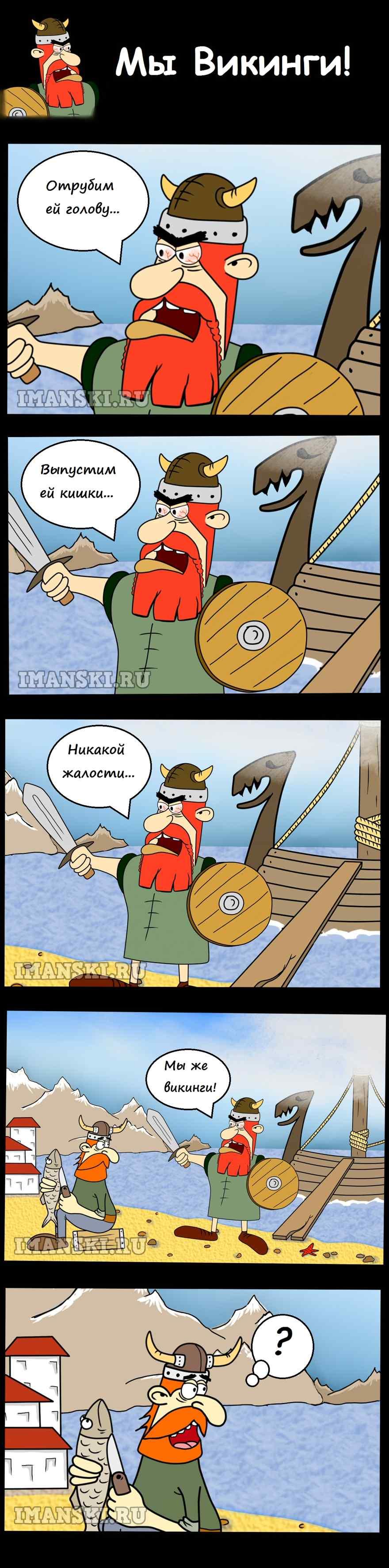 Викинги, Мы же викинги! Смешной комикс,