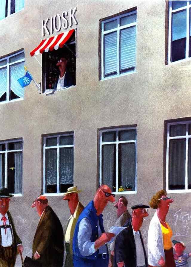 Герхард Глюк культовый художник-карикатурист.