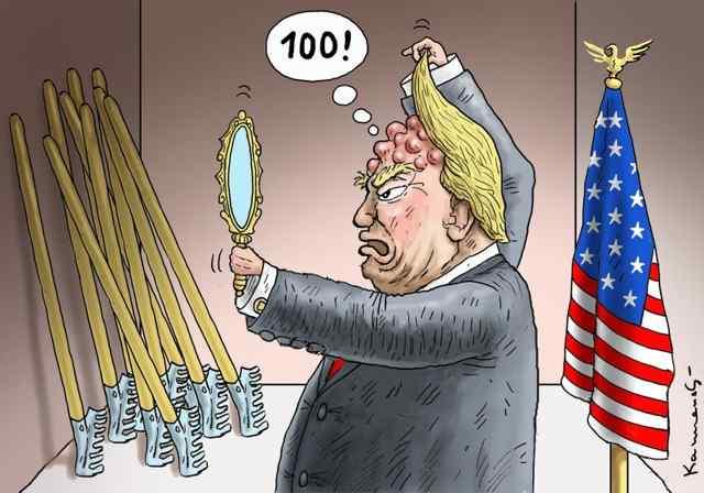 Вся суть 100 дневного правления Трампа в одной карикатуре.