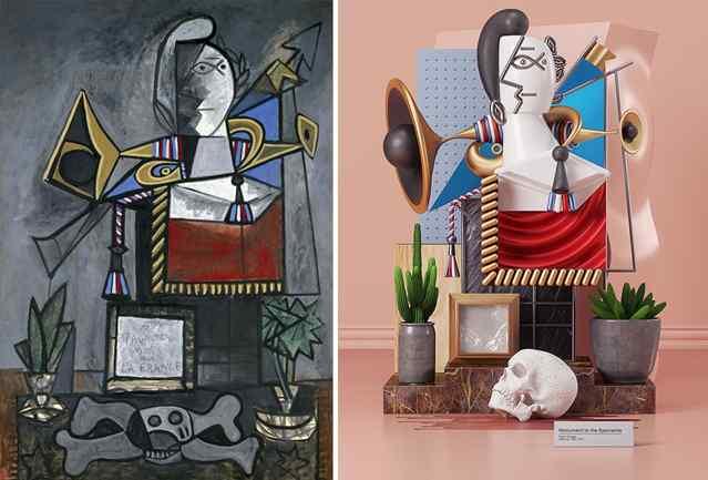 3д картины Пабло Пикассо
