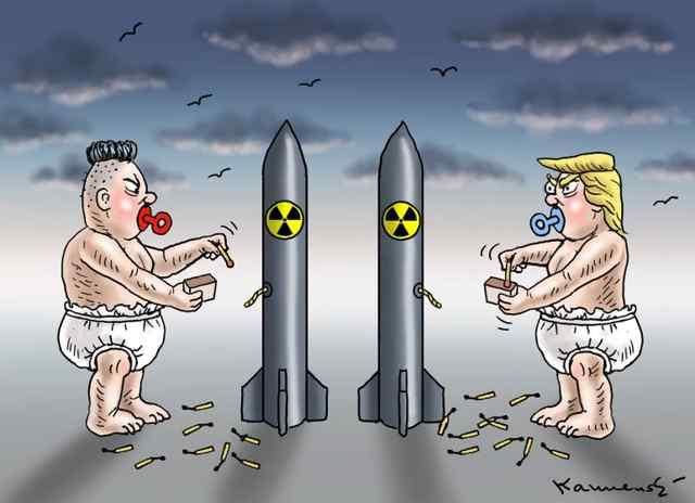 О ситуации вокруг Северной Кореи, Зарубежная карикатура.