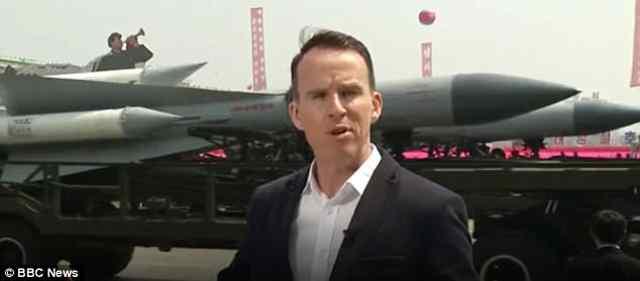 Ракета на параде в Пхеньяне.