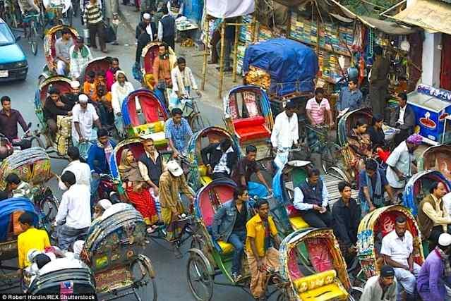 пробки в городах мира