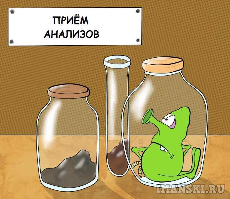 Кариактура. Автор Игорь Иманский. Приём анализов.