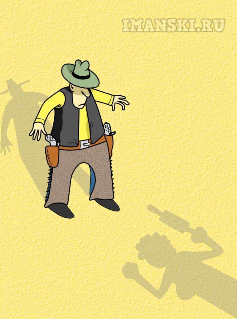 Дуэль. Карикатура. Автор Игорь Иманский.